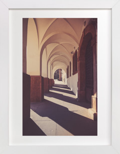 Traveling Tunnel  Art Print