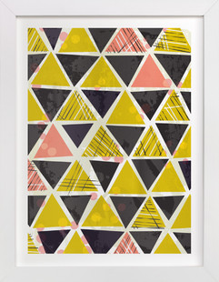 Tribal Triangles  Art Print