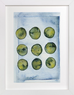 Organic Blues Art Print