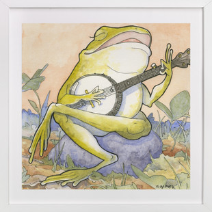 Wide Mouth Froggy  Art Print