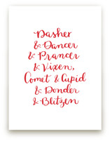 Reindeer Names Holiday by Megan Kelso