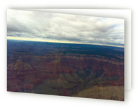 Over the Grand Canyon card Greeting Cards