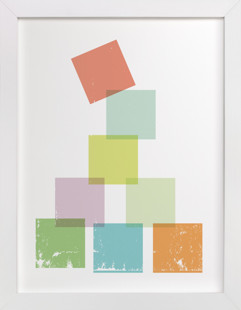 Stack the Blocks Self-Launch Children's Art Print