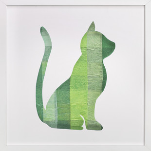 Green Party Kitty Self-Launch Children's Art Print