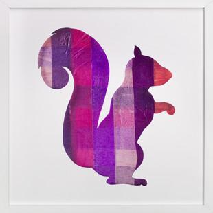 Pink Party Squirrel Self-Launch Children's Art Print