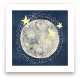 Moon and 3 Stars  by CaroleeXpressions