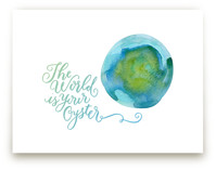 World is Your Oyster by Laura Bolter Design