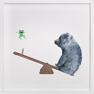 See me go wee wee! Self-Launch Children's Art Print