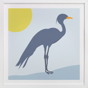 Blue Crane Self-Launch Children's Art Print