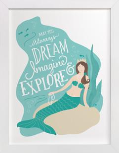 Mermaid Wish Self-Launch Children's Art Print
