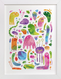 Meet the Monsters Self-Launch Children's Art Print