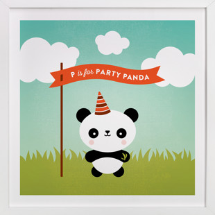 Party Panda Self-Launch Children's Art Print