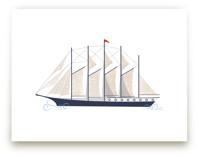 Schooner Boat by Katie Zimpel