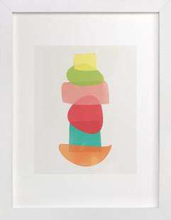 Shape Stack Self-Launch Children's Art Print