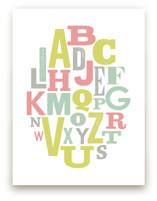 Oval Alphabet by Leah Bisch