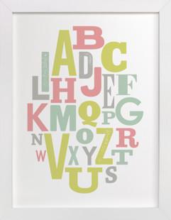 Oval Alphabet Self-Launch Children's Art Print