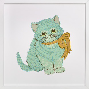 Kitten & Bow Self-Launch Children's Art Print