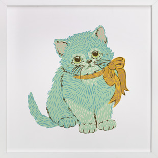 Kitten & Bow Self-Launch Children's Art Print