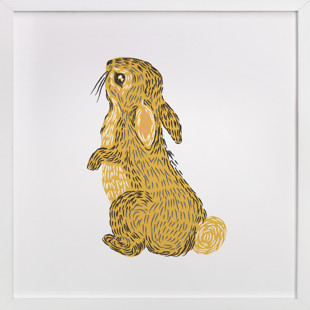 Golden Rabbit Self-Launch Children's Art Print