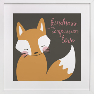 kind fox Self-Launch Children's Art Print