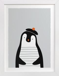 The French penguin Self-Launch Children's Art Print