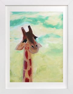 Giraffe Up Close Self-Launch Children's Art Print