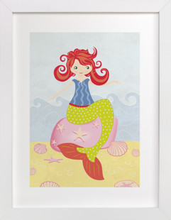 Mermaid Self-Launch Children's Art Print