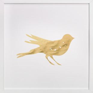 Here Birdie Birdie Self-Launch Children's Art Print