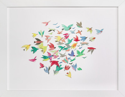 Bright Birds Self-Launch Children's Art Print