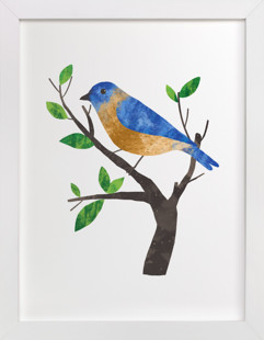 Eastern Bluebird Self-Launch Children's Art Print