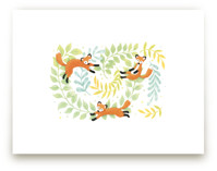 Red Foxes by Four Wet Feet Studio
