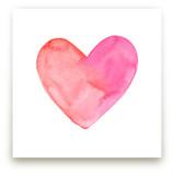 Heart Valentine Waterco... by Laura Mock
