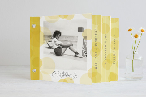Champagne Forever Memorial Minibook Cards