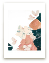 Peach Abstract Botanica... by Caryn Owen