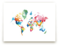 Abstract World Map by Jessie Steury