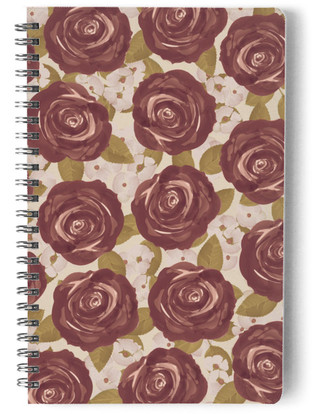 Marsala Roses Self-Launch Notebook