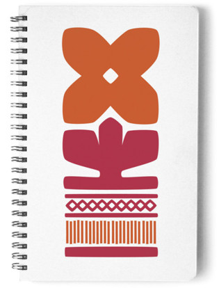 Nordic Orange Notebook Self-Launch Notebook