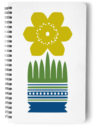 Nordic Yellow Flower Notebook Self-Launch Notebook