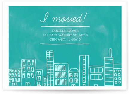Apartment Living Moving Announcement Postcards
