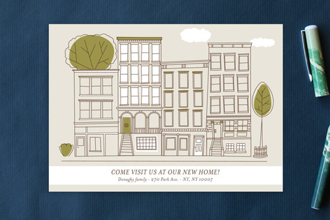 The City Moving Announcement Postcards