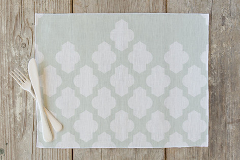 Foiled Arabesque Wedding Self Launch Placemats