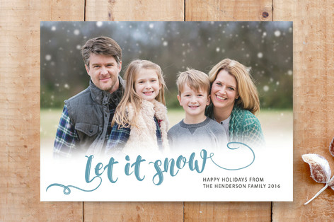 Let it snow holiday Custom Stationery