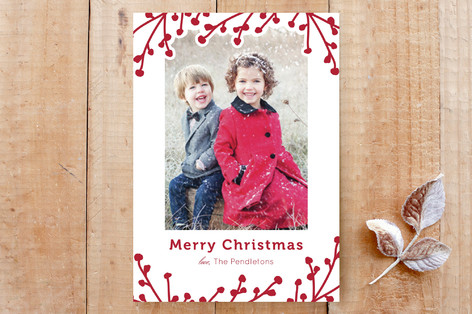 Winterberry Branches Custom Stationery