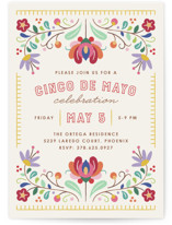 Fiesta Florals Invitation Custom Stationery