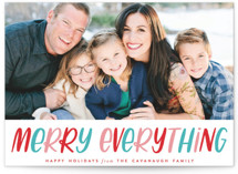 Lettered Merry Everything Custom Stationery