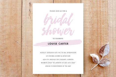 Bridal Brush Custom Stationery