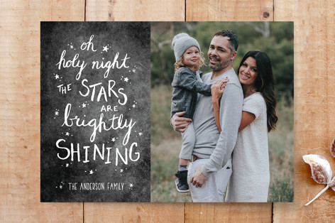 Oh Holy Night Chalk Custom Stationery