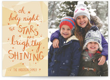 Oh Holy Night Stained Glass Custom Stationery