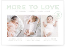 More To Love Triplets Custom Stationery