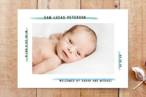 Modern Painted Frame Custom Stationery